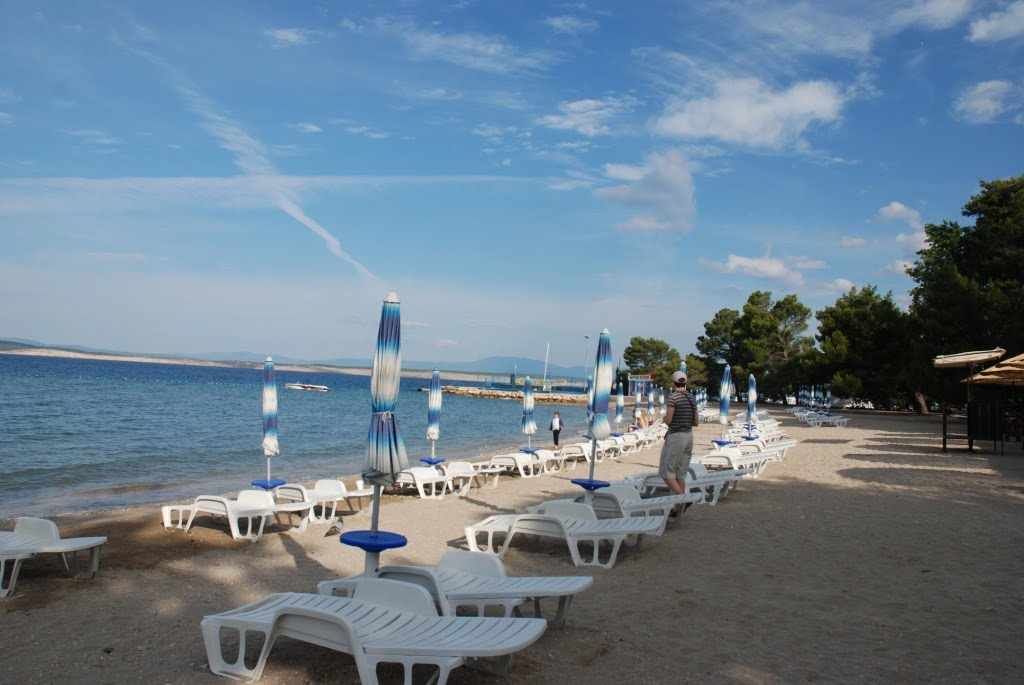 Sandy beach in Crikvenica