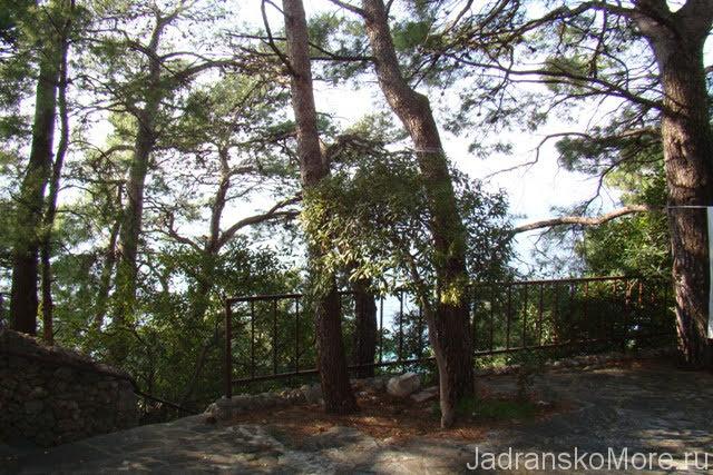 Brela apartment terrace view