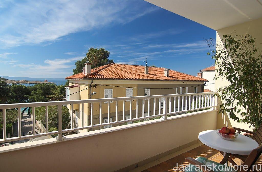 Makarska apartment balcony view