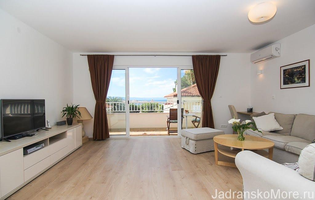 Makarska apartment living room