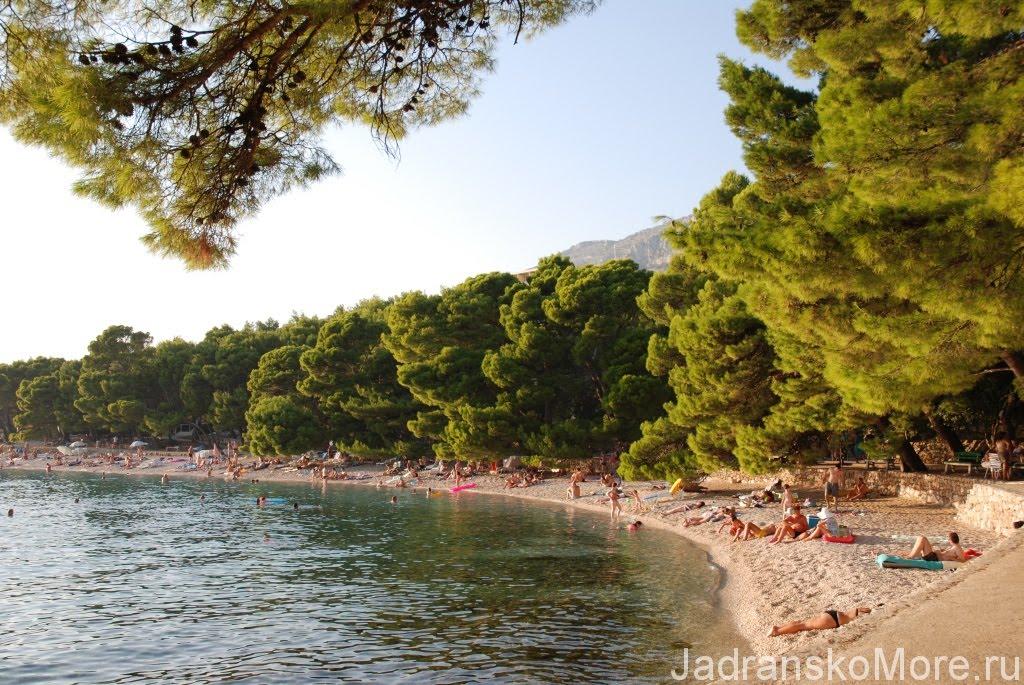 Maestral beach in Brela