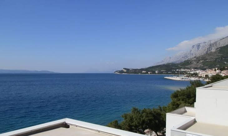 Tucepi apartment top terrace view