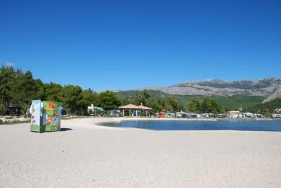 Пляж кемпинга Стобреч рядом со Сплитом